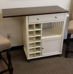 A great way to add more work space in your kitchen (and wine storage too!) $186.00