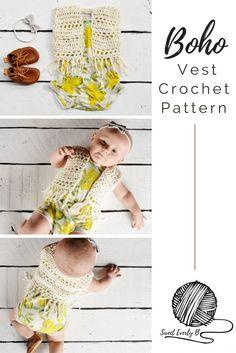 baby crochet vest pattern, crochet fringe vest pattern, free baby crochet patterns for beginners, infant boho vest, bohemian crochet pattern