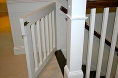 Athens 5 Pts (Southview) - traditional - staircase - atlanta - by Athens Building Company Wood Baby Gate, Baby Gate For Stairs, Wooden Gates, Wooden Stairs, Custom Baby Gates, Kids Gate, Stairs And Staircase, Basement Stairs, Stairway