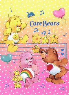 Care Bears: Funshine, Cheer & Tenderheart Bear Play Music My piano lesson folder had this picture on it.