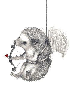 Giclee Print Happy Valentine's Day Hedgehog Pencil Illustration - Giclee Print Happy Valentine's Day Hedgehog Pencil Illustration - Hedgehog Illustration, Pencil Illustration, Hedgehog Tattoo, Valentine's Day Quotes, Little Critter, Valentine Decorations, Happy Valentines Day, Giclee Print, Cute Animals