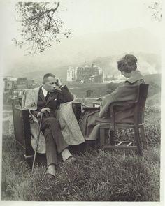 fantomas-en-cavale:  Erich von Stroheim devant la reconstitution du casino de Monte-Carlo, décor de son film Foolish Wives, 1922