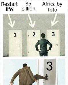 Africa by Toto. Always choose to listen to Africa by Toto. #Music #Meme #Laugh #Funny #LOL