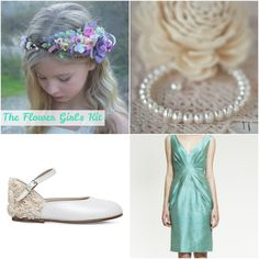 Flower girls add an extreme level of cuteness to the wedding ceremony. Send your sweetie down the aisle in the child size of Zuzana Veselá's mint bridesmaid dress along with the other essentials that every flower girl must have. Selfridges #littlegirlspearls #thebigday #flowergirl #weddingweek #zuzanavesela #czechdesigner