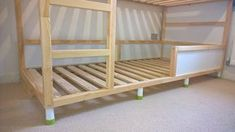 For my Star Wars KURA Bunk Bed hack, I found it to be far cheaper to purchase two Ikea Kura Reversible Beds to make a good quality and secure bunk bed. Bunk Beds With Storage, Twin Bunk Beds, Kids Bunk Beds, Kura Cama Ikea, Kura Bed, Ikea Trofast, Hack Ikea, Ikea Bunk Bed Hack, Ikea Kids Room