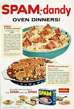 Sizzle up a SPAM® -dandy dinner! | SPAM® Brand | Throwback | Sizzle. Pork. And. Mmm.™
