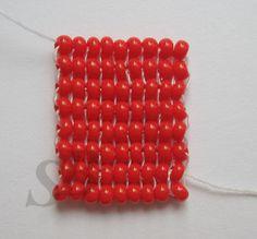 Прямое гобеленовое плетение из бисера. | Салон Эксклюзивного Бисера
