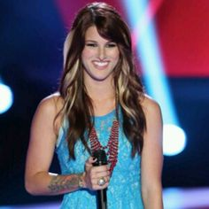 Love Casadee Pope's hair and dress!