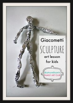 Giacometti sculpture art project for kids Giacometti sculpture art project for kids,Teaching Art Giacometti art project for children, simple sculpture project for kids, sculpture art lesson plan for children, online Family Art Club Related. Sculpture Lessons, Sculpture Projects, Art Sculpture, Art Lessons For Kids, Art Lessons Elementary, Art For Kids, Art Children, Life Lessons, Easy Art Projects