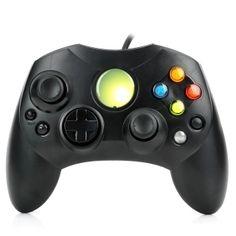 USB+filaire+contrôleur+de+jeu+Joystick+Gamepad+pour+XBOX+Noir