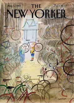 Officine 99 have pulled together a collection of Jean Jacques Sempè's bicycle themed illustrations for the New Yorker.