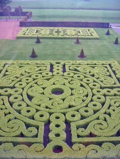 Knot garden at Castletown Cox, Ireland.