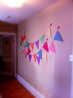 colourful bunting! always bunting.