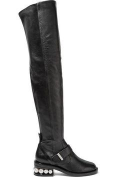 Nicholas Kirkwood - Casati Embellished Leather Over-the-knee Boots - Black - IT40.5