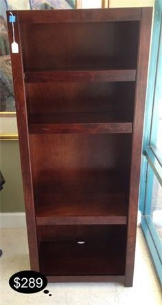 Rustic cherry book shelf with adjustable shelving.    Yesterdays Treasures Consignment  5829 Lone Tree Way Suite J  Antioch, CA 94531  925.233.4547  www.Yesterdayststore.com  Info@yesterdayststore.com