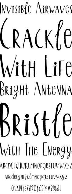 Qiber - handwritten, mixed-case font