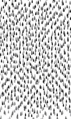Gray drops. beautiful.