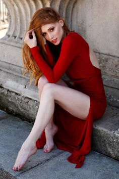 Redhead....red-dress.