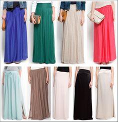 modelos de faldas largas de moda - Buscar con Google