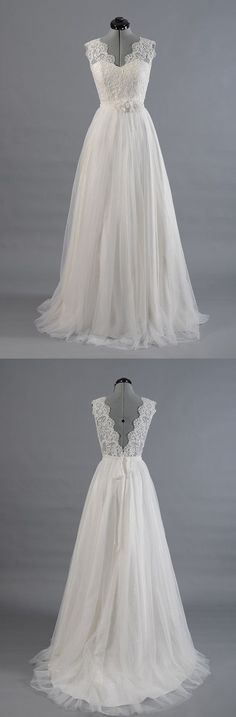 Best Sale Vantage V-Back Lace Top Simple Design Wedding Party Dresses, WD0036 The wedding dresses are fully lined, 4 bones in the bodice, chest pad in the bust, lace up back or zipper back are all ava