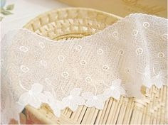 wide embroidered mesh lace 1yard width 10cm 39987 by cottonholic, $7.00