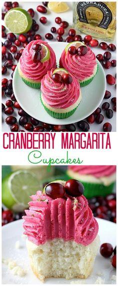 Cranberry Margarita Cupcakes