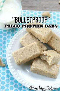 Copycat Bulletproof collagen protein bars, Vanilla Shortbread Source by Paleo Protein Bars, Paleo Bars, Protein Bar Recipes, Protein Cake, Low Carb Protein, High Protein, Sin Gluten, Gluten Free, Cauliflowers