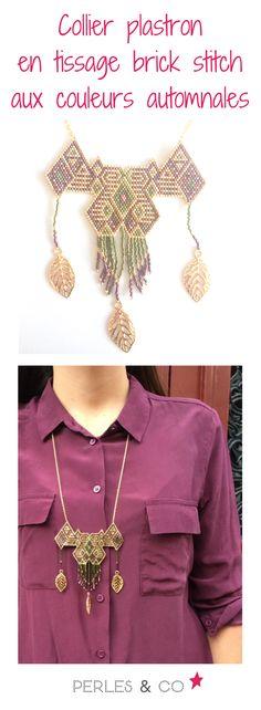 Les premiers froids de l'automne sont arrivés ... un temps idéal pour tisser des perles! Emmanuelle nous propose un superbe collier en  Miyuki Delicas 11/0 aux couleurs de l'automne : du rouge, du vert, du doré ... bref les couleurs du moment!  Retouvez le tutoriel sur le site de Perles & Co >> https://www.perlesandco.com/Collier_plastron_en_tissage_brick_stitch_aux_couleurs_automnales-s-2784-5.html
