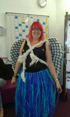 Wings and tutu as modelled by my beautiful friend!