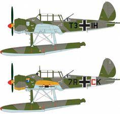 Arado Ar 196A, 1./ Bordfliegergruppe 196 (top), Jagdschulgeschwader 101 (bottom)