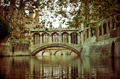 The Bridge Of Sighs at Cambridge University in England, named after The Bridge of Sighs in Venice by students who attend the university