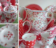 love the polka dots & RED