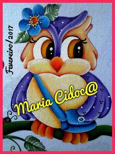 Corujinha com bolsa. Unique Drawings, Cute Drawings, Owl Art, Bird Art, Tole Painting, Fabric Painting, Easy Paintings, Animal Paintings, Dream Catcher Native American