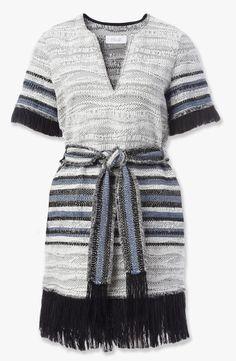 10 Crosby Derek Lam 2016ss Fringe Tie Striped Dress