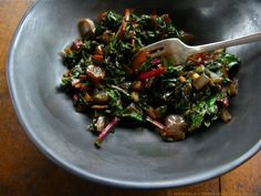 Sauteed Beet Greens w: Carmelized Onions and Balsamic Vinegar ⓒ michaela - thegardenerseden
