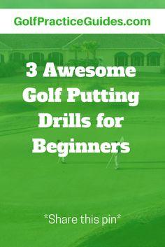 3 golf putting drills for beginners.. Topics: Golf, Golf Tips, Golf Practice Drills, Golf Practice Routines, Golf DIY, Golf Courses, Golf Apparel, Golf Gift Ideas for Women, Golf Equipment Mens, Golf Carts, Golf shoes)