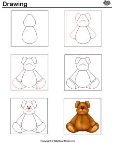 ...draw a teddy bear--lots of other things to draw here too