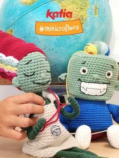 Die Amigurumi-Challenge mit Ovi & Lana - #KatiaMinicrafters Challenge, Crochet Hats, Mini, Halloween, Cotton, Amigurumi, Knitting Hats, Spooky Halloween