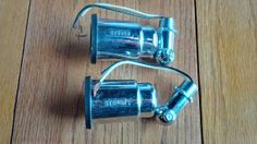 A pair of Steber chrome plated wall mount light by Groovinonup, $18.00