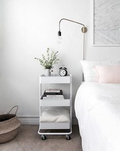 Modern Minimalist Chic Style Bedroom White Pastels Home Decor Inspo