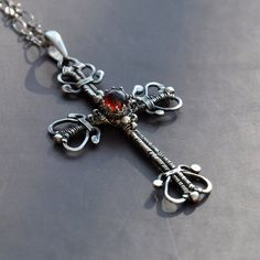 Victorian cross - pendant by Eire-handmade.deviantart.com on @deviantART