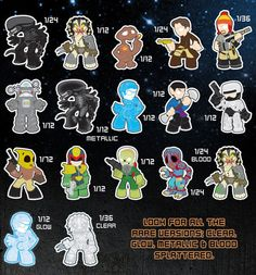 Sci-Fi mystery minis I have a Spock but really want an alien, predator, and the rocketeer