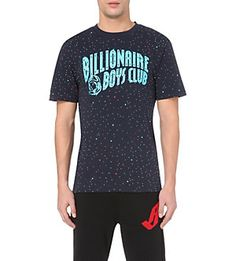 BILLIONAIRE BOYS CLUB Star cotton-jersey t-shirt (Navy