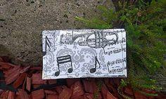Si.Ma / Notová na 8 kariet,koženka + bavlna Wallet, Fashion, Pocket Wallet, Moda, Fasion, Purses, Diy Wallet, Purse