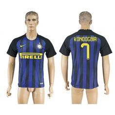 Inter Milan 16-17 #Kondogbia 7 Hemmatröja Kortärmad,259,28KR,shirtshopservice@gmail.com