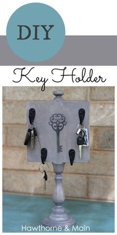 Anyone out there have a problem with loosing their keys? I am the worst at it.  Take a look at this tutorial on how to make a portable key hold.  This is sure to help you never loose those keys again!