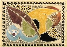 Artwork by Duncan Grant, Design for a rug, Made of ballpoint pen, watercolour, bodycolour and coloured crayon Summer Arts And Crafts, Arts And Crafts For Teens, Art And Craft Videos, Arts And Crafts House, Crafts For Girls, Arts And Crafts Projects, Fall Crafts, Arts And Crafts Interiors, Arts And Crafts Furniture