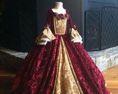 Vestido de Belle inspirado Vestido de la princesa tamaño 4t