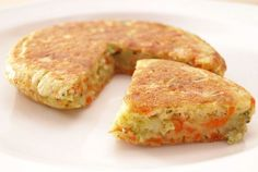 Tortitas de brócoli, zanahoria y parmesano