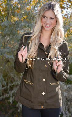 www.sexymodest.com  #jacket #love #pretty #beautiful #love #military #fall #fashion #design #fashionblog  Follow us on Instagram @modestshoppin